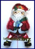 Weihnachtsmann-Luftballon mit Helium, Nikolaus, Geschenk zu Weihnachten