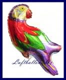 Papagei Glitzer Luftballon zur Hawaii-Party-Dekoration