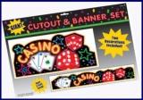 Casino Party- und Festdekoration, Cutout und Banner Set