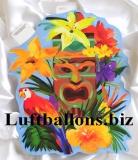 Party- und Festdekoration, Cutout Hawaii Maske