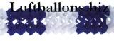 Girlande zur Party- und Festdekoration, Seidenpapiergirlande, Blau-Weiß, 4 Meter