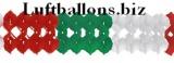 Girlande, Party- und Festdekoration, Seidenpapiergirlande, Grün-Weiß-Rot, 4 Meter