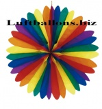 Party- und Festdekoration, Rosette, Bunt