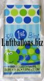 Partydekoration zum 1. Geburtstag, Tischdecke, Schildkröte, Happy 1st Birthday