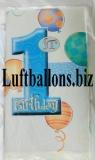 Partydekoration zum 1. Geburtstag, Tischdecke, 1st Birthday, Jungen