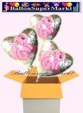 My Little Pony Holo Herzluftballons mit Helium, Kindergeburtstag Geschenke, 3 Stück