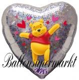 Winnie the Pooh Love Luftballon mit Helium, Kindergeburtstag u. Geschenk