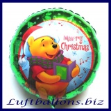 Luftballon Weihnachten, Winnie the Pooh, Rundballon aus Folie