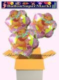 Pooh Flower Luftballons mit Helium, Kindergeburtstag Geschenke, 3 Stück