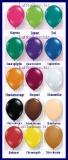 Rund-Luftballons, Qualatex, Kristallfarben, 25 cm, 100 Stück