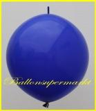 """Link Ballon, Deko-Kettenballon, Girlandenballon, Ø 60-70 cm, 30"""", Blau"""