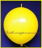 """Link Ballon, Deko-Kettenballon, Girlandenballon, Ø 60-70 cm, 30"""", Gelb"""
