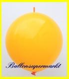 """Link Ballon, Deko-Kettenballon, Girlandenballon, Ø 60-70 cm, 30"""", Orange"""