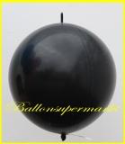"""Link Ballon, Deko-Kettenballon, Girlandenballon, Ø 60-70 cm, 30"""", Schwarz"""