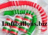 Riesen Luftschlangen, Rot-Weiß-Grün, 1 Rolle