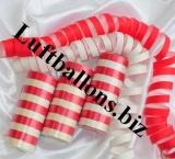 Jumbo Luftschlangen, Rot-Weiß, 1 Rolle, zu Karneval und Fasching