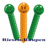 Riesen-Raupen-Luftballons, 3 Stück