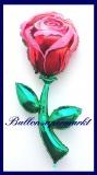 Rote Rose, Deko-Luftballon aus Folie, inklusive Helium