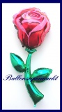 Rote Rose, Deko-Luftballon aus Folie