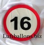 Servietten, Papierservietten, Tischdekoration, Schilder-Dekoration mit der Zahl 16