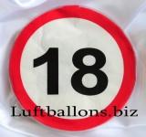 Servietten, Papierservietten, Tischdekoration, Schilder-Dekoration mit der Zahl 18