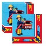 Servietten Feuerwehrmann Sam, 20 Stück