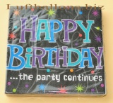 Servietten zum Geburtstag, Papierservietten, Tischdekoration, Happy Birthday, Party