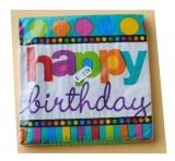Servietten zum Geburtstag, Papierservietten, Tischdekoration, Happy Birthday, Dots and Stripes