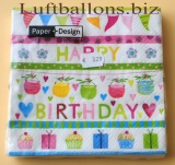Servietten zum Geburtstag, Papierservietten, Tischdekoration, Happy Birthday, Special Day
