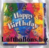 Servietten zum Geburtstag, Papierservietten, Tischdekoration, Happy Birthday, Brilliant Birthday