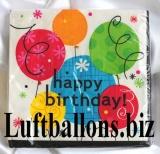 Servietten zum Geburtstag, Papierservietten, Tischdekoration, Happy Birthday, Birthday Breezy