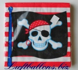 Servietten zum Kindergeburtstag, Papierservietten, Tischdekoration, Piraten, Party
