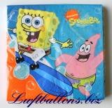 Servietten zum Kindergeburtstag, Papierservietten, Tischdekoration, Spongebob, Schwammkopf