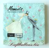 Servietten zur Hochzeit, Papierservietten, Tischdekoration, Braut und Bräutigam