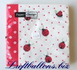 Servietten Ladybirds and Dots, Papierservietten, Tischdekoration