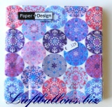 Servietten Mandala lilac, Papierservietten, Tischdekoration
