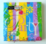 Servietten zur Party, Papierservietten, Tischdekoration, go out to party