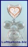 Silberhochzeit Geschenkverpackung, Geschenkballon