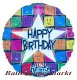 Musikballon, Luftballon mit Musikmodul, Happy Birthday Faces