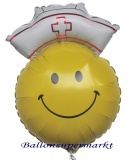 Smiley Nurse, Luftballon aus Folie inklusive Helium-Ballongas