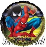 Spiderman Rund Luftballon mit Helium, Kindergeburtstag u. Geschenk
