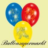 Spiderman Luftballons, 6 Stück, Ballons aus Latex