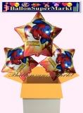 Spiderman Sternluftballons mit Helium, Kindergeburtstag Geschenke, 3 Stück