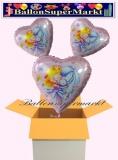 Sweet Little Princess Herzluftballons mit Helium, Kindergeburtstag Geschenke, 3 Stück