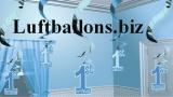 Partydekoration zum 1. Geburtstag, Wirbler-Dekoration, 1st Birthday, Blau, 5 Stück