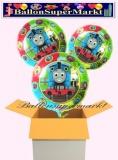 Thomas and Friends Rundluftballons mit Helium, Kindergeburtstag Geschenke, 3 Stück