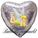 Tinkerbell Love Herz Luftballon mit Helium, Kindergeburtstag u. Geschenk