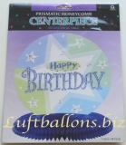 Geburtstag, Tischdekoration, Tischdeko-Ständer, Prismatic Honeycomb, Happy Birthday