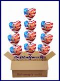 USA Welcome Home, 10 Luftballons mit Helium im Karton