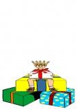 Grußkarte Kindergeburtstag, Viele Geschenke